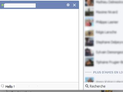 Comment afficher la barre de discussion instantanée sur facebook