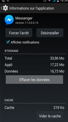 comment arreter une application android