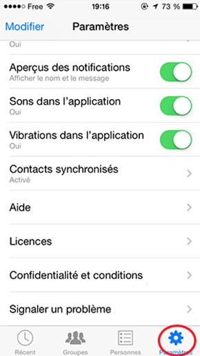 Se deconnecter de yahoo mail sur android