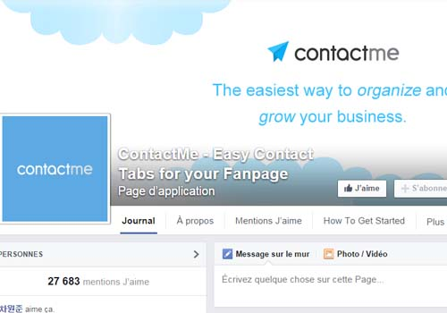 application contact facebook