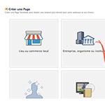 Facebook créer nouvelle page