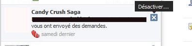 désactiver notification facebook