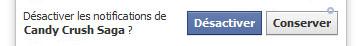 désactiver notification fb
