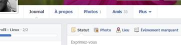 liste d'amis Facebook