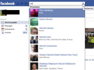 recherche amis facebook