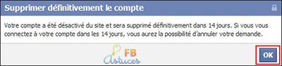 supprimer compte-fb