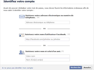 identifier compte facebook