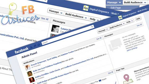 admin facebook