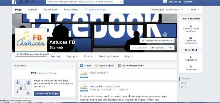 nouvelle page facebook 2014