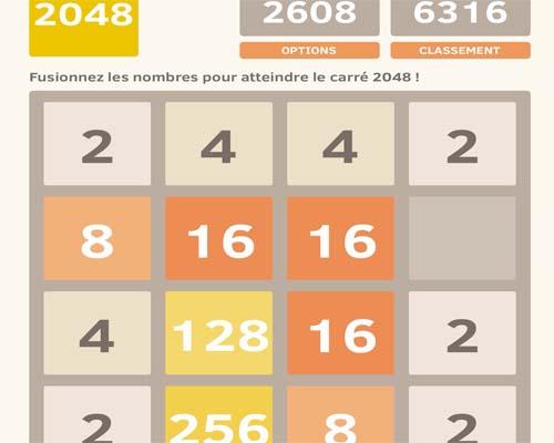 jeu 2048 sur Facebook