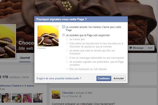 signaler page fan facebook