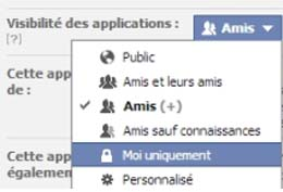 application deezer sur FB