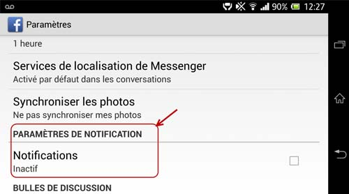 notifications fb mobile