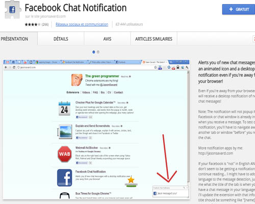 facebook chat notification