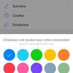 changer la couleur messenger facebook