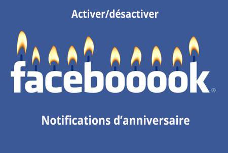 Comment activer/désactiver les notifications d'anniversaire Facebook