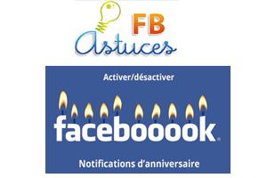 Activer Ou Desactiver Les Notifications D Anniversaire Facebookastuces Facebook
