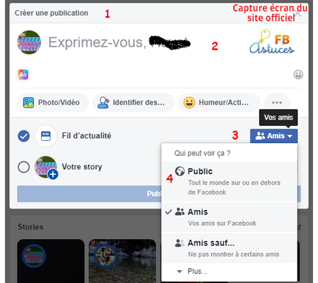 Comment créer et publier un statut Facebook
