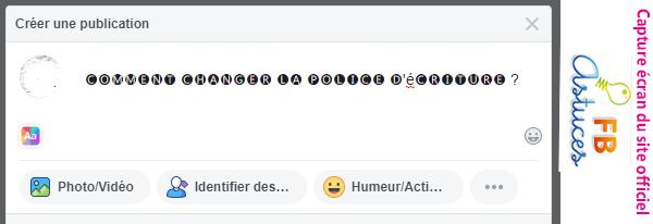 créer une publication Facebook différente