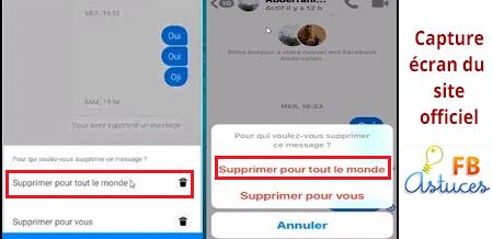 Effacer les messages Fb messenger sur téléphone portable